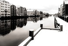 Winter of Trondheim (B&W) by Aziz Nasuti on 500px