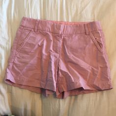 """Pink J. Crew shorts! Beautiful pink J. Crew shorts. Size 4. 4"""" inseam. Two faux back pockets. Perfect condition! Easy to pair with lots of tops! 100% Cotton. J. Crew Shorts"""