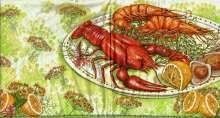 Zobrazit detail - Ubrousky 33 x 33 cm MOŘSKÉ PLODY