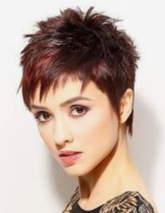 hairstyle Best Picture For edgy hair curly For Your Taste You are looking for something, and it is g Edgy Short Haircuts, Short Choppy Hair, Short Red Hair, Super Short Hair, Short Hair Cuts For Women, Short Hair Styles, Bobbed Hairstyles With Fringe, Prom Hairstyles For Short Hair, Edgy Hairstyles