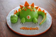 Dinosaur Smash Cake