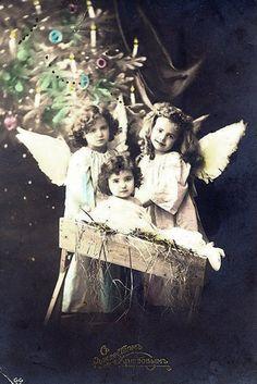 рождественская открытка дореволюционная
