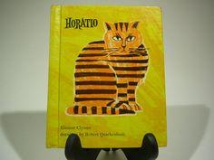 Horatio, 1968, Eleanor Clymer, Robert Quackenbush, vintage cat book, vintage kids book