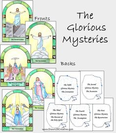 The Glorious Mysteries of the Rosary Cards