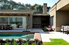Casa en Pilará: Piletas de estilo Moderno por Aulet & Yaregui Arquitectos Barbacoa, My Dream Home, Future House, Ideas Para, Building A House, Build House, Ideal Home, Swimming Pools, Sweet Home