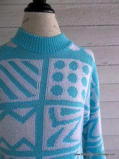 Vintage Sweater  1980s RETRO Graphics by runaroundsuevintage, $28.00