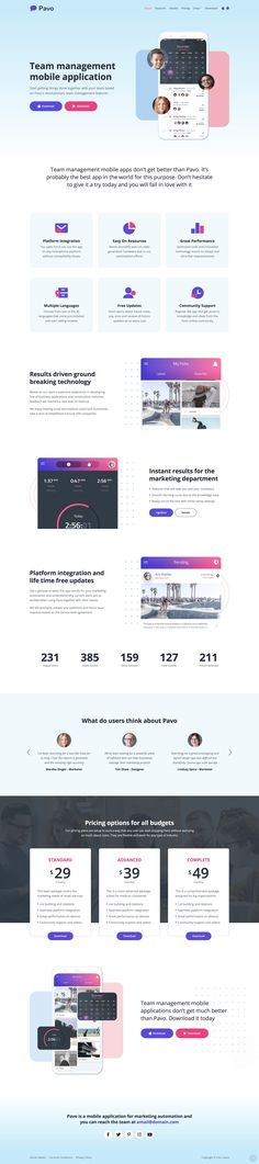 'Pavo' is a free HTML template built by Inovatik on the Bootstrap framework, suited for an App Landing Page. Free Html Templates, App Landing Page, One Page Website, First Page, Website Template