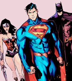 """""""Dial back the heat and stand down… Before things go from bad to worse."""" Trinity in Superman/Wonder Woman Superhero Images, Superhero Movies, Dc Comics Heroes, Dc Comics Art, Batman Vs Superman, Famous Cartoons, Cool Cartoons, Marvel Comic Character, Comic Book Characters"""