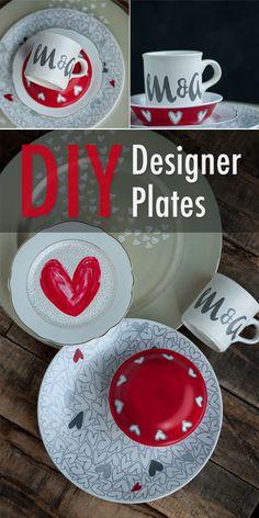 DIY Designer Plates