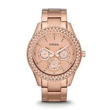 Women's Fossil *12 YEAR WARRANTY* Rose Gold Stella Modern #AnalogWatch ES3003 http://ebay.to/1c0w3dB