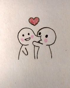 Cute Love Sketches, Love Drawings For Him, Cute Drawings Of Love, Drawings For Boyfriend, Art Drawings Beautiful, Cute Easy Doodles, Easy Doodles Drawings, Cute Doodle Art, Love Doodles