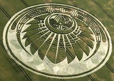 CROP CIRCLE, Reported July the 5th at Silbury Hill, near Avebury, Wiltshire