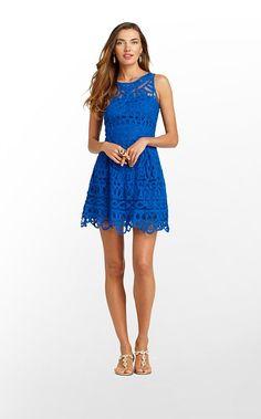 Lilly Pulitzer Summer '13- Foley Dress in Schooner Blue Batt Your Eyes $398