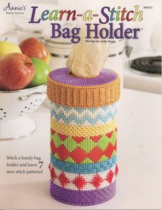 Learn A Stitch Bag Holder Plastic Canvas by needlecraftsupershop, $5.99