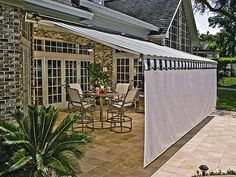 A great solution for the patio! Sunesta Awning with SmartDrop Option by Joe Wilde Company in New Berlin, WI
