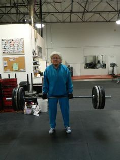 There's no age-limit on fitness.  2fit-2quit:  Jean….82 years old. New deadlift 1RM PR…….153#! — with CrossFit Longevity (via Desert CrossFit)