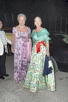 forhelvede:  50th Wedding Anniversary Celebrations for King Constantine and Queen Anne-Marie of Greece, September 18, 2014-Queen Anne-Marie's sisters Princess Benedikte and Queen Margrethe of Denmark