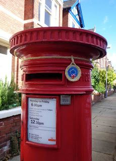 Yarnbombed Pillar Box The Olympics & Paralympics have been great - haven't they? All that effort and excitement and medals - and now i.
