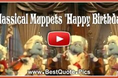 Classical Muppets Happy Birthday to You Song Video Happy Birthday Wishes Song, Free Birthday Card, Happy Birthday Video, Birthday Songs, Happy Birthday Gifts, Birthday Messages, Birthday Cards, Anniversary Songs, Happy Anniversary