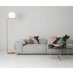 Ninety table, large (h 35 x w 80 x d 80 cm), green, brass Interiors Online, Furniture Design, Sofa Furniture, Furniture, Bedroom Decor, House Interior, Room, Home Furnishings, Room Decor