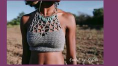 Hermosos crop tops tejidos a crochet
