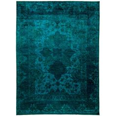 Suraqqah /Green Overdyed Hand-knotted Area Rug