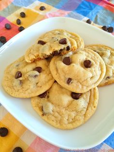 Chewy Chocolate Chip Cookies on rubyparkbaking.com