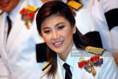Yingluck Shinawatra, Pheu Thai party leader and prime minister elect, poses for a photograph before attending the opening of parliament ceremony in Bangkok, Thailand, on Monday, Aug. 1, 2011. Thailand's Parliament opened today for the first time since Yingluck Shinawatra's Pheu Thai party won a majority last month, paving the way for lawmakers to select her as the country's first female prime minister. Photographer: Dario Pignatelli/Bloomberg via Getty Images