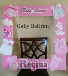 Trendy baby shower ideas for girs diy decoration frames 39 Ideas Baby Shower Frame, Fotos Baby Shower, Shower Bebe, Baby Shower Cards, Baby Shower Parties, Baby Shower Themes, Shower Ideas, Diy Bebe, Baby Shawer