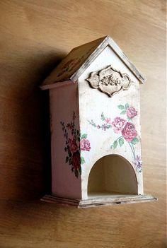 LadyDiana / Domček pre čaj Decoupage, Bird, Outdoor Decor, House, Vintage, Home Decor, Decoration Home, Home, Room Decor