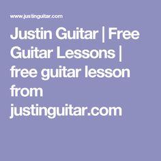 Justin Guitar   Free Guitar Lessons   free guitar lesson from justinguitar.com