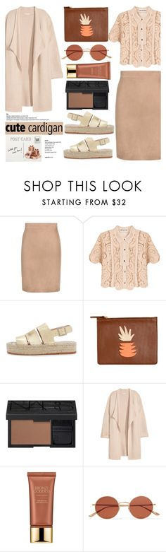 """""""No 369:Cute Spring Cardis (On Top of Top Set)"""" by lovepastel ❤ liked on Polyvore featuring Tom Ford, self-portrait, Loeffler Randall, Lizzie Fortunato, NARS Cosmetics, Kofta, Estée Lauder, Oliver Peoples, Club Monaco and cutecardigan"""