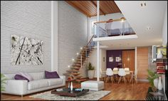 Awesome Loft Living Brickwall Design Ideas - Your Home Design