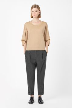 COS   Rounded sleeve jumper