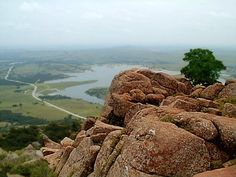 Mount Scott Oklahoma. A cool place to visit in the Wichita Mountain Wildlife Refuge.