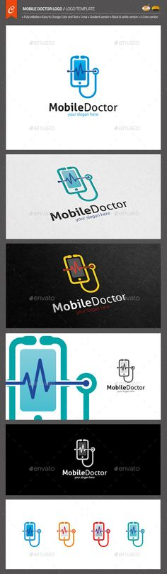 Mobile Doctor Logo Template #design #logotype Download: http://graphicriver.net/item/mobile-doctor-logo/13299269?ref=ksioks