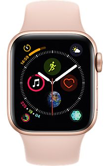 Apple Watch Series 4 (GPS, - Gold Aluminium Case with Pink Sand Sport Loop watch Ios Apple, Buy Apple Watch, Apple Watch Series, Bracelet Sport, Sport Armband, Verizon Wireless, Pink Sand, Series 4, Shopping