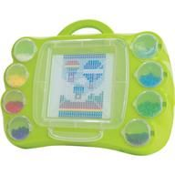 Creativity is portable with the Perler Bead 'n Carry. This cleverly designed case allows kids to transport partially completed projects from room to room, to a friend's house, even on vacation! Snap-close lids snugly hold your project and beads with no spilling. Works with the Perler pattern pads.