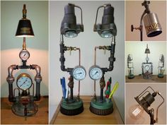 Hall Upcycled Lamps