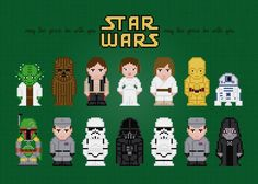 (10) Name: 'Embroidery : Star Wars Characters Cross Stitch