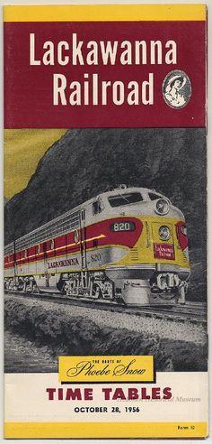 Apalachin New York Lackawanna Railroad Phoebe Snow Train Poster Art Print 060