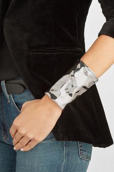 Jennifer Fisher   XL Crinkle silver-plated cuff   NET-A-PORTER.COM
