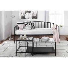 DHP Rebecca Metal Daybed   Black   5545096   Products   Pinterest     Mainstays Twin Metal Daybed  Black