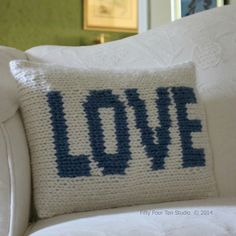 """The Love Pillow is the third in my series of """"word"""" themed pillows."""