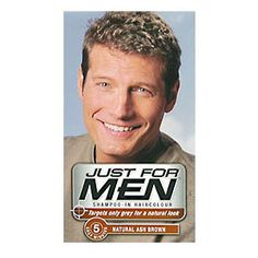 Just for Men Shampoo-in Hair Colour Natural Ash Brown Just for Men Shampoo-in Hair Colour Natural Ash Brown Just For Men hair colour blends shades of your natural colour into your grey so subtly, no one can tell where the grey was! This thick, no-drip h http://www.comparestoreprices.co.uk/hair-care-products/just-for-men-shampoo-in-hair-colour-natural-ash-brown.asp