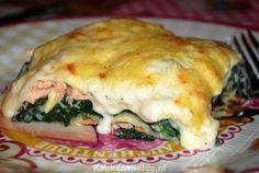 Lasagne met zalm en spinazie voor fijnproevers