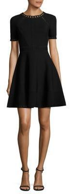 MILLY Bar Pointelle Textured Dress