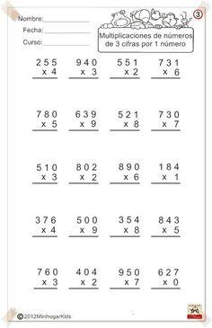 Multiplication Worksheet  Multiplying ThreeDigit By TwoDigit