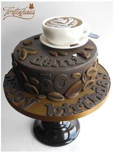 Funny 50th Birthday Cakes, Birthday Cakes For Men, Cupcake Cake Designs, Cupcake Cakes, Cupcakes, Cappuccino Tassen, Bean Cakes, Gateaux Cake, Cakes For Women