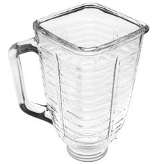 5 cup square top glass jar fits most Oster and Osterizers. Fits all Oster Kitchen Centers. Fits all blenders which use a 5 cup square top jar. Glass top interior opening is x Orders are usually processed within Mini Blender, Top Blenders, Kitchen Blenders, Glass Jars, Clear Glass, Oster Blender, Professional Blender, Blender Models, Souvenir